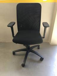 Cadeira Diretor Tela Mesh Preta Reclinável Escritório Giratória Home Office
