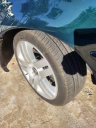Rodas long  sem trinco nem solda 4 pneus  ling long 195 45 15 praticamente novos