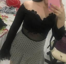 Vestido de festa com transparência (P)