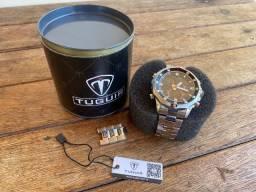 Título do anúncio: Relógio Masculino Tuguir Digital - Prata E Preto