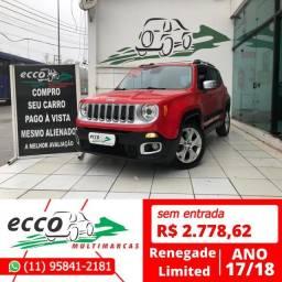 Título do anúncio: Jeep Renegade  Limited 1.8 (Aut) (Flex) FLEX AUTOMÁTICO