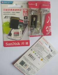 Cartão de memória SanDisk 64gb