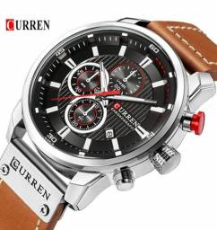 Título do anúncio: Relógio Curren com cronógrafo, caixa em aço inoxidável e pulseira de couro PU