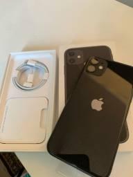 Título do anúncio: iPhone 11 Black 64GB Novo Sem Uso Na Caixa e Garantia Apple