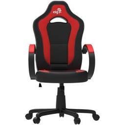 Cadeira Gamer ELG Racing Com ajuste de altura Preto/Vermelho em até 12x