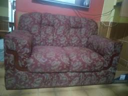 Conjunto de sofá 2 e 3 lugares para reformar