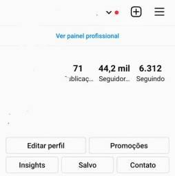 Conta do Instagram 44k
