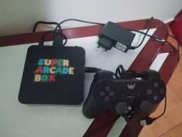 Tv box com vários jogos / 2 manetes