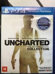 TRÊS JOGOS EM UM CD Uncharted The Nathan Drake Collection PS4