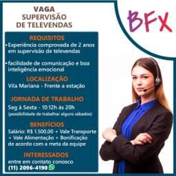 Título do anúncio: Supervisor de Televendas