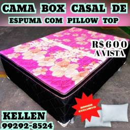 Título do anúncio: cama cama @ box de casal +2 travesseiros de brinde  @