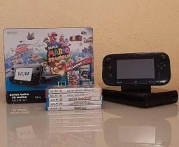 Nintendo Wii U preto 32gb + 9 jogos