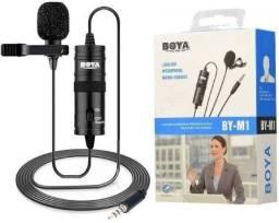 Microfone Boya De Lapela By M1 Para Câmeras E Smartphones