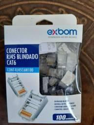 Conector blindado cat6