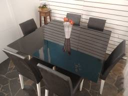 Título do anúncio: Somente a mesa c/vidro grosso 1,40x1,40