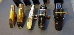 7 Boquilhas de Saxofone Tenor e Alto (Venda)