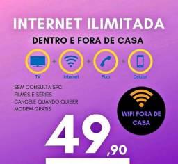 Wifi sem por sento fibra