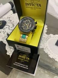 Relógio Invicta Aviator (banhado a ouro)