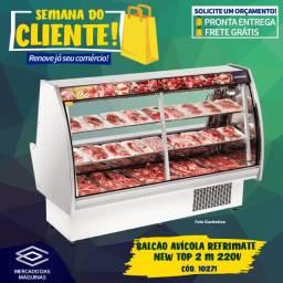 Título do anúncio: Balcão avícola refrigerado com bandejas Refrimate 2 metros 220v Novo Frete Grátis