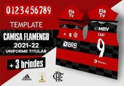 Template camisa flamengo editável 2021