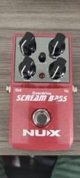 Título do anúncio: Nux Scream Bass Overdrive Pedal