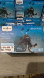 Suporte de telefone com carregador para moto