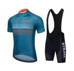Conjunto Ciclismo Camisa + Bretelle Strava