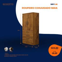 Título do anúncio: Roupeiro Conjugado Maia (Entrega Rápida/Frete Grátis)