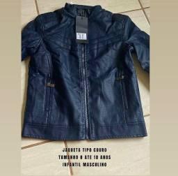 Título do anúncio: Jaqueta tipo couro INFANTIL   Veste 8 até 10