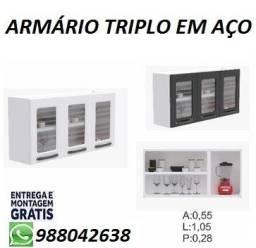 Super Promoção de Armario Aerio Triplo em Aço Com Entrega e Montagem Gratis!!