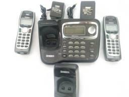 Telefone Sem Fio Uniden Tru9466 com 2 telefones com 1 Base + 1 Ramal