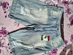 Super promoção bermudas jeans