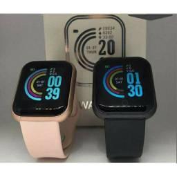 Relógio Smart Esportivo D20 Prova D'água/Rel Gio Smart Com Medidor De Ped