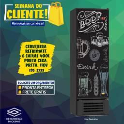 Título do anúncio: Cervejeira Refrimate 6 caixas 400L porta cega, preta, Nova Frete Grátis
