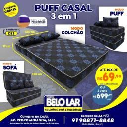 Puff Casal 3 Em 1, Compre no zap *