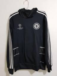 Título do anúncio: Blusa adidas com capuz Chelsea UCL