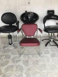 Lavatório para salão de beleza e cadeiras