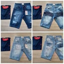 Camisa + Bermuda Jeans