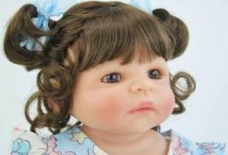 Bebê Reborn Realista Silicone 55cm