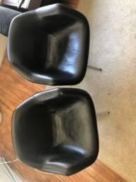 Cadeira preta escritório sala