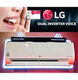 Ar-condicionado LG 9000 BTUs Frio Dual Inverter Voice 220v