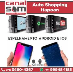 Central Multimídia Com Espelhamento Android e Ios