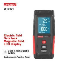 Detector de Radiação Portátil e Recarregável, Medidor do Campo Eletromagnético Emf