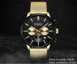 Relógio masculino original Curren luxo exclusivo e diferenciado