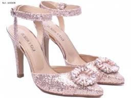 Sapato Scarpin Feminino Glitter