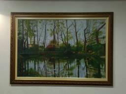 Quadro (Jardim de Monet) pintura a óleo.