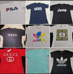 Camisetas multimarcas renda extra