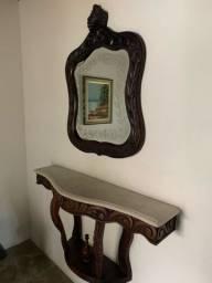 Espelho e móvel antiguidade
