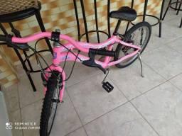 Bike infantil aro 20 com marcha. Wendy rosa pink