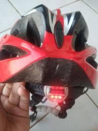 Capacete+pedaleira